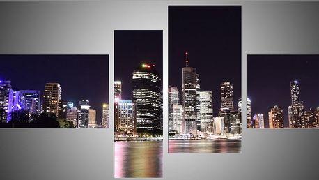 Čtyřídílný obraz 110x60 (30x45, 20x60, 30x60, 30x30)