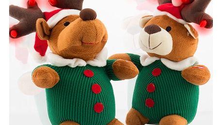 Hrající, Svítící a Hýbající se Vánoční Plyšák
