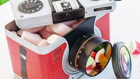 Plechová Krabice Retro Fotoaparát