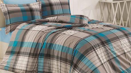 Kvalitex Bavlněné povlečení Delux Stripes square, 140 x 220 cm, 70 x 90 cm