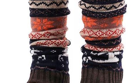 Vánoční návleky na nohy - 4 barvy