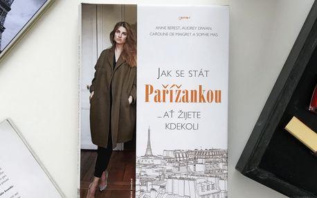 Kniha Jak se stát Pařížankou (česky), bílá barva, papír