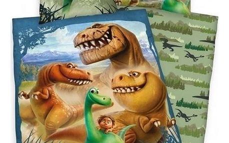 Herding Povlečení Hodný Dinosaurus bavlna 140/200, 70/90 cm