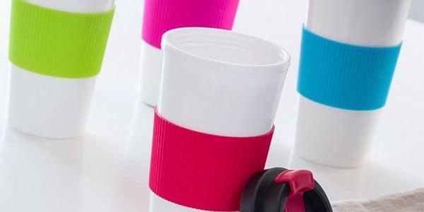 Sklenice s Víčkem a Dvojitou Stěnou Colors Gadget and Gifts