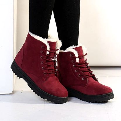Zateplené šněrovací boty - 9 barev
