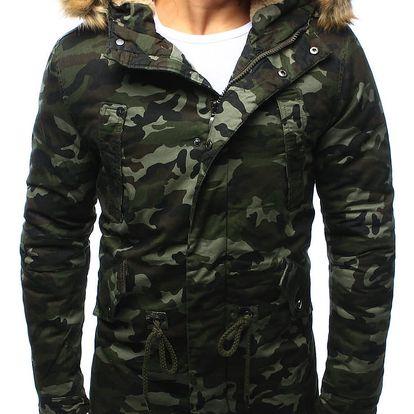 Maskáčová pánská zimní bunda parka s kapucí (tx1995) Barva: Maskáčový vzor světlý, Velikost: XL