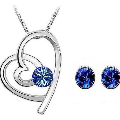Dámský elegantní set šperků ve tvaru srdce