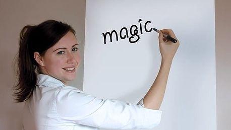 Magická čistě bílá tabule - role 25 archů - Napiš, smaž a používej neustále dokola!