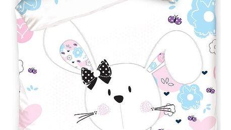 Carbotex povlečení bavlna Králíček Bunny 140x200 70x80