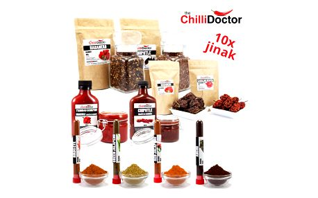 Chilli Doctor grilovací chilli balíček 10 ks + zdarma grilovací chilli kuchařka