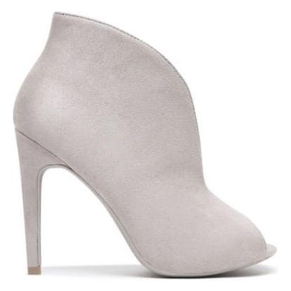 Dámské šedé kotníčkové boty Angelika 1191