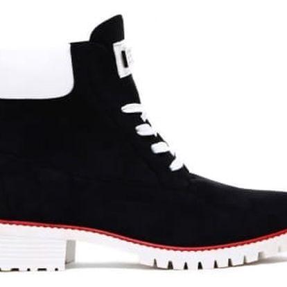 Dámské černé kotníkové boty Corina 1169