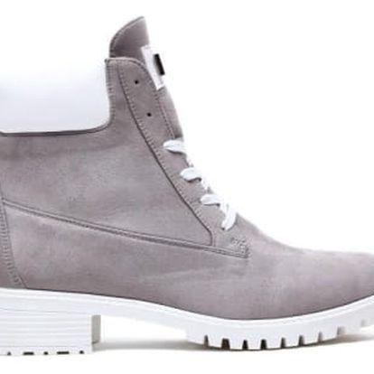 Dámské šedé kotníkové boty Corina 1169