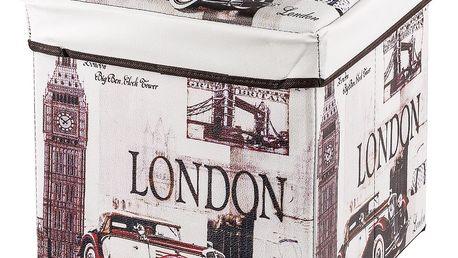 Skládací sedací box s potiskem London
