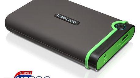 """Externí pevný disk 2,5"""" Transcend 1TB (TS1TSJ25M3) šedý/zelený"""
