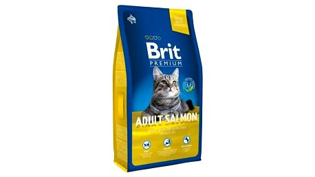 Granule Brit Premium Cat Adult Salmon 8kg