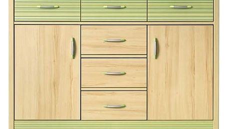 Monza - skříňka, CD3 (višeň cornvall, zelená)