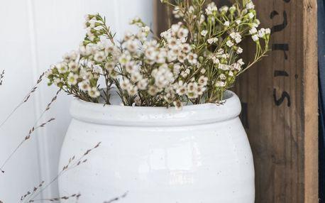 IB LAURSEN Keramický květináč Bocal White 16 cm, bílá barva, keramika
