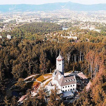 Hotel Liberecká Výšina, Liberec - save 39%, Stylové ubytování v romantické rozhledně uprostřed přírody