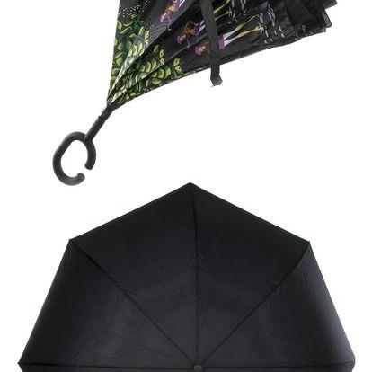 Obrácený holový deštník s dvojitým potahem Girls slečny na procházce