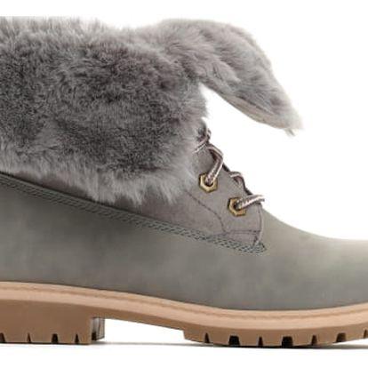 Dámské šedé kotníkové boty Cami 030