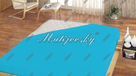Matějovský prostěradlo Jersey tyrkysová, 200 x 220 cm
