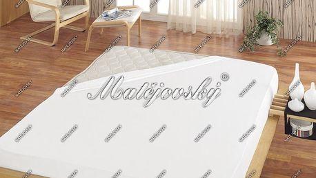 Matějovský prostěradlo froté bílá, 180 x 200 cm