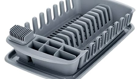 Tescoma Clean Kito dkapávač s podnosem, šedá