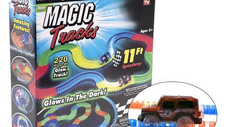 Magic Tracks svítící autodráha - 220 dílů