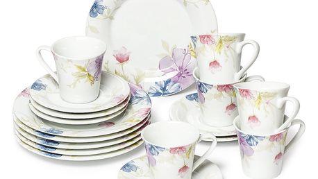 TILIA Čajová a kávová jídelní souprava z porcelánu 18dílná, MÄSER