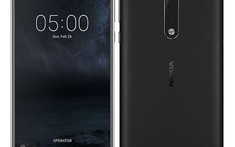 Mobilní telefon Nokia 5 Single SIM (11ND1B01A12) černý Software F-Secure SAFE 6 měsíců pro 3 zařízení v hodnotě 999 Kč + DOPRAVA ZDARMA