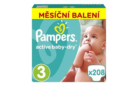 Plenky Pampers Active Baby Monthy Box S3 208 ks + Doprava zdarma