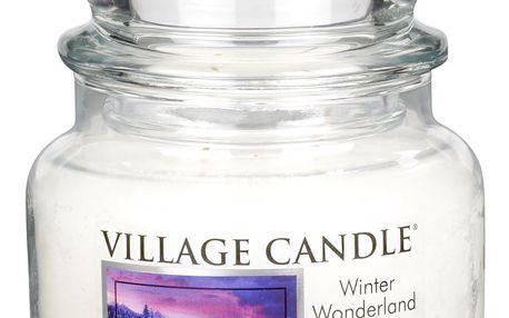 VILLAGE CANDLE Svíčka ve skle Winter wonderland - malá, čirá barva, sklo
