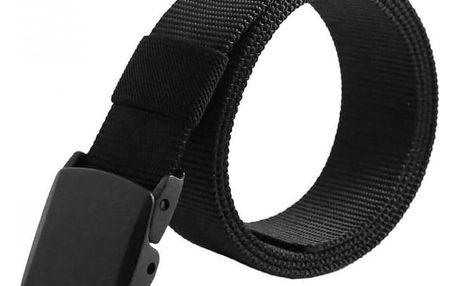 Pánský pásek s černou přezkou - černá barva - dodání do 2 dnů