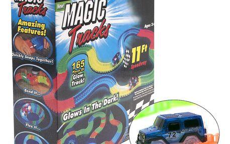 Magic Tracks svítící autodráha - 165 dílů