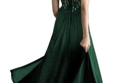 Plesové šaty s krajkovými zády