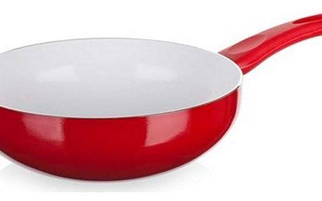 Pánev WOK Red Culinaria červená, 24 cm, Banquet