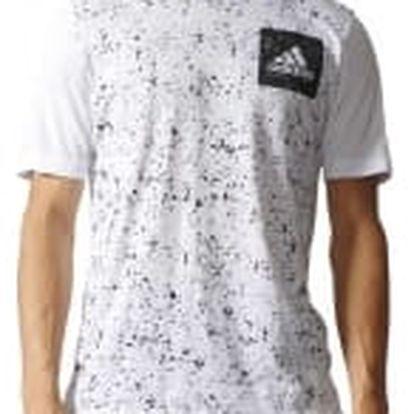 Pánské tričko adidas SID AOP TEE | B47362 | Bílá | L
