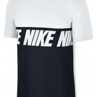 Pánské tričko Nike M NSW TEE AV15 BLK REPEAT | 856475-100 | Bílá, Černá | L