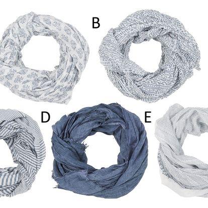 IB LAURSEN Dámský šátek Grey Green Typ E, šedá barva, bílá barva, textil