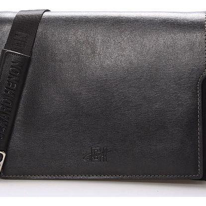Pánská kožená taška přes rameno černá - Gerard Henon Alain černá