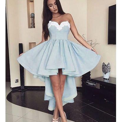 Dámské šaty s krajkovým dekoltem - 3 barvy