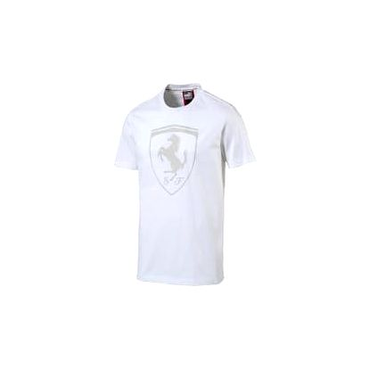 Pánské tričko Puma Ferrari Big Shield Tee Wh bílé | 572805-04 | Bílá | XL