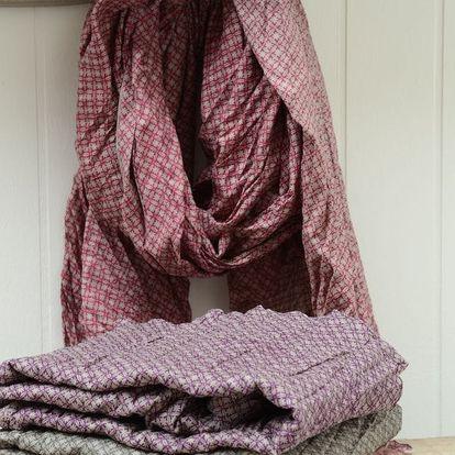 IB LAURSEN Šátek Grey/purple Typ B, multi barva, textil