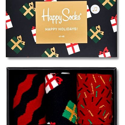 Happy Socks set pánských ponožek XMAS II v hrací krabičce