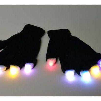 Svítící LED rukavice