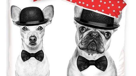 TipTrade Bavlněné povlečení Dogs in Black