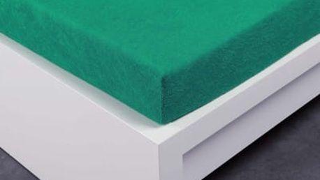 XPOSE ® Froté prostěradlo Exclusive dvoulůžko - zelenkavá 160x200 cm