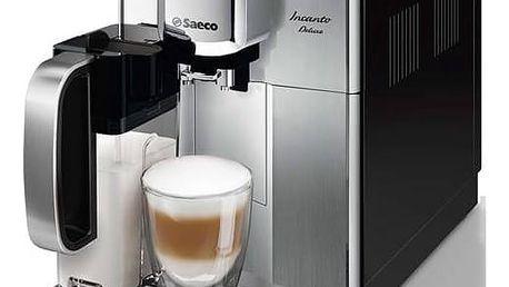 Espresso Saeco Incanto HD8921/09 černé/nerez Sada pro údržbu kávovarů Philips CA6707/00 (zdarma) + Doprava zdarma