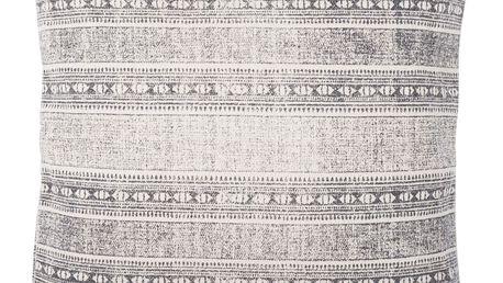 IB LAURSEN Povlak na polštář Dark grey printing 50x50, šedá barva, textil